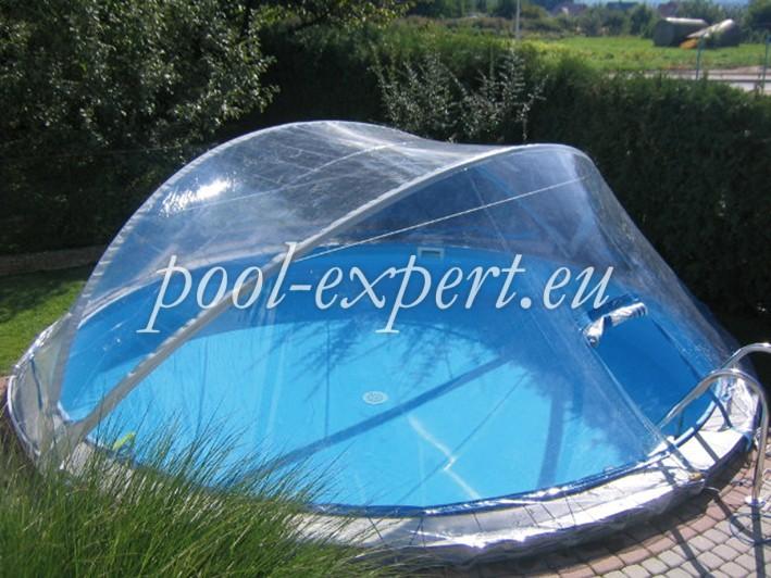 Купол для круглого бассейна из поликарбоната своими руками 61
